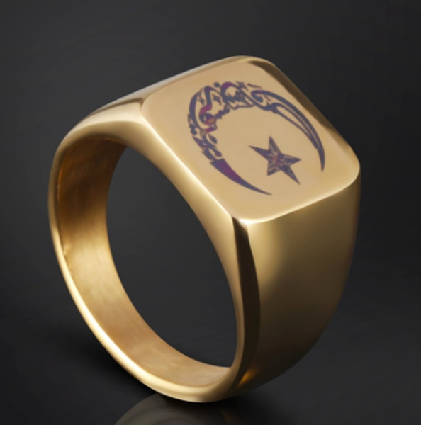 Sterling, ringsformen, 18k gold, Star