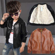 brown, giaccadaragazzo, jackets for kids, boyleathercoat