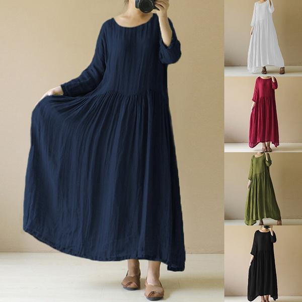 Vintage, womens dresses, Cotton, long sleeve dress