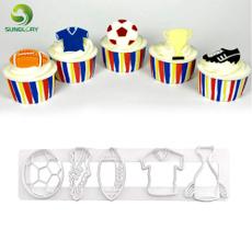 footballcookiecutter, footballcupcaketopper, Football, Baking