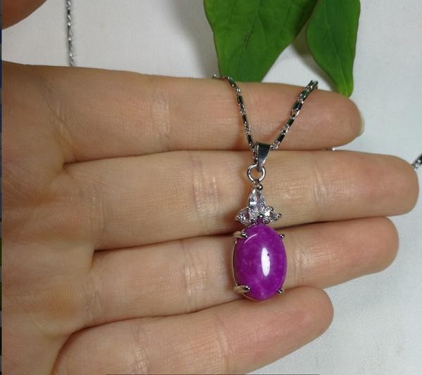 Fashion, sautoir, Pendant, purple