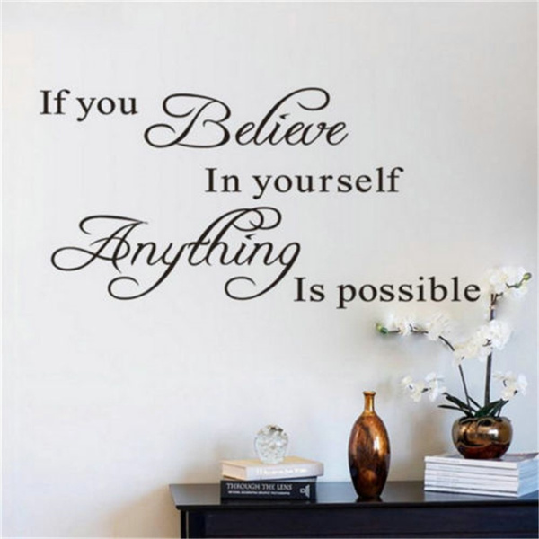 PVC wall stickers, Decor, art, Quotes
