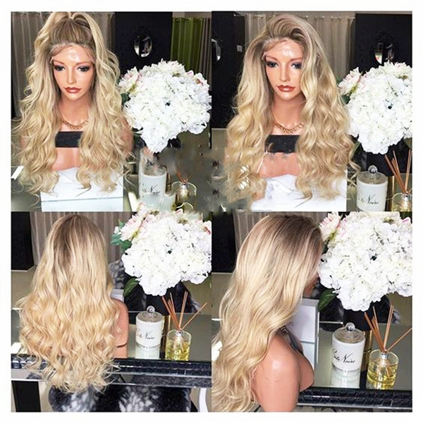 wig, Synthetic Lace Front Wigs, longwavywig, Lace
