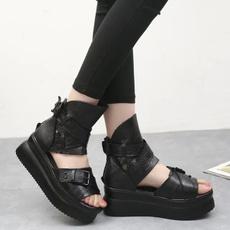 Summer, Goth, High Heel Shoe, Womens Shoes