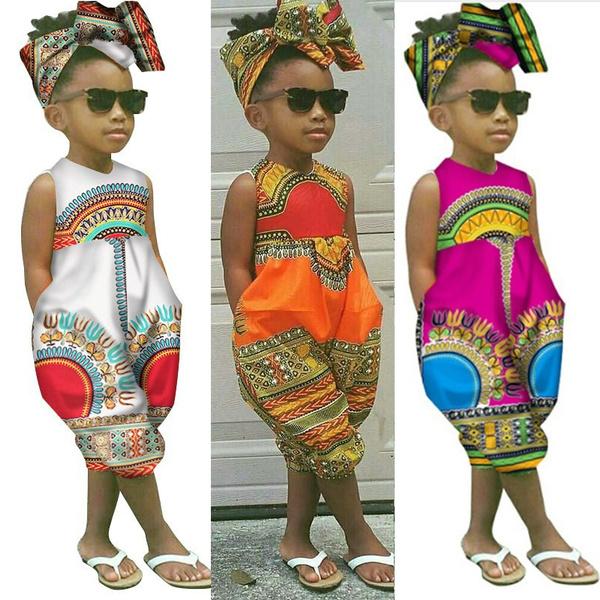 africanprint, cute, infantsamptoddler, girljumpsuit