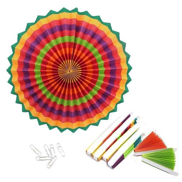 paperfan, Decor, Carnival, Colorful