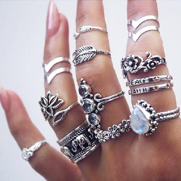 kuncklering, crystal ring, Women Ring, Elephant