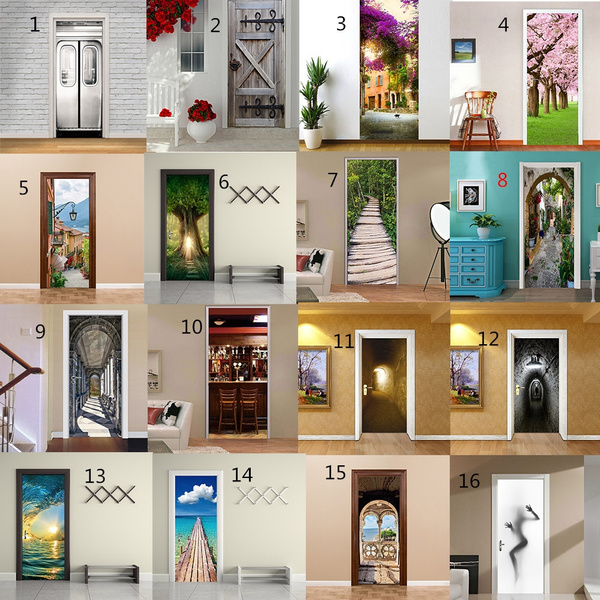 Door, Home Decor, doorsticker, Waterproof