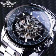 Steel, automaticmechanicalwatch, Men Business Watch, Stainless Steel