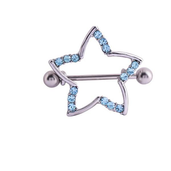 nipplepiercing, Star, fivepointedstar, nippleshieldjewelry
