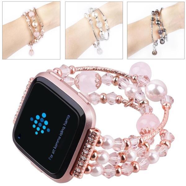 handmadewatchband, wristbandsaccessoriesforfitbitversa, Jewelry, Elastic