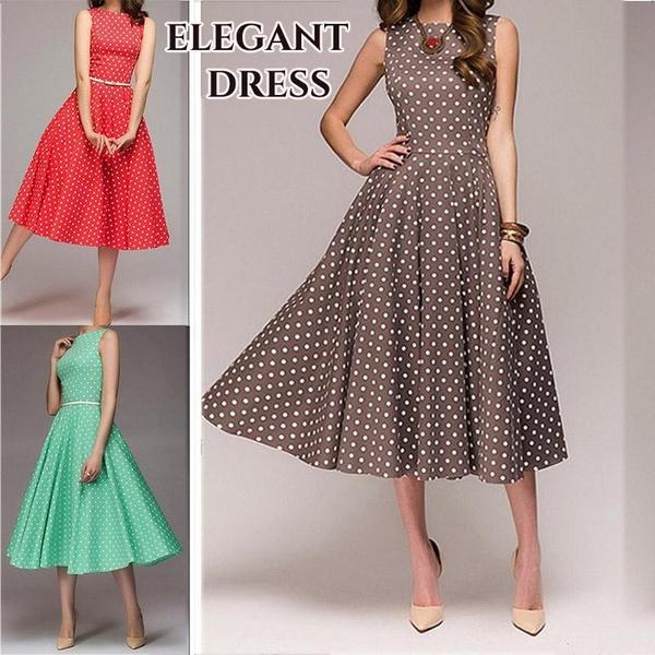 dressforwomen, Plus Size, Vintage, slim dress
