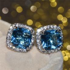 Sterling, Stud, Gemstone Earrings, Stud Earring
