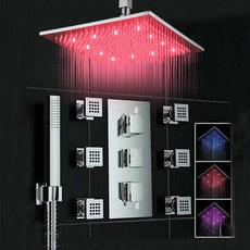 bathroomfaucet, bathtubampshowerfaucetset, chromeshowerfaucet, LED faucet lights