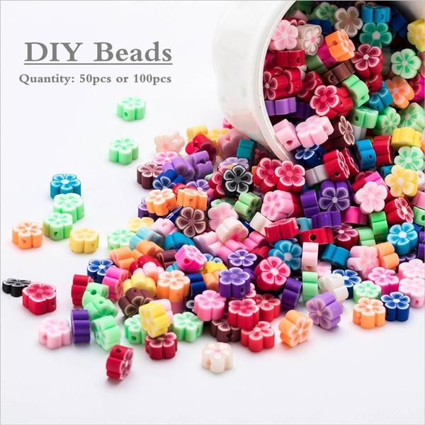 beadsforjewelrymaking, polymer, flowerbead, beadsflower