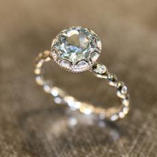 Beautiful, DIAMOND, Love, 925 silver rings