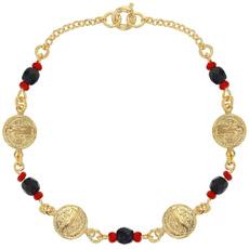 Charm Bracelet, eye, goldplated, gold