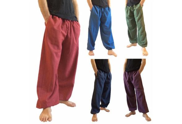 HR0113 Cotton baggy unisex harem pants,Thai rayon Style Harem Yoga Pants Harem pants