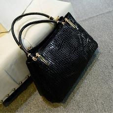 Shoulder Bags, Fashion, Leather Handbags, crocodilepatternbag