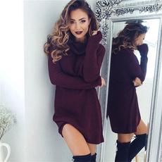 knitwear, Fashion, sweater dress, Autumn Dress