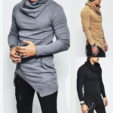 Pocket, Plus Size, Sleeve, Irregular