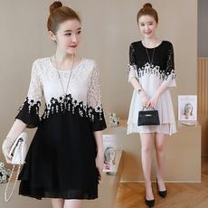 Plus Size, tunic, Lace, Dress