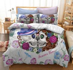 comforterbeddingset, skull, duvet, Bedding