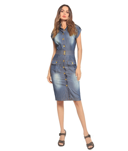 denim dress, Cowboy, denimskirt, New pattern