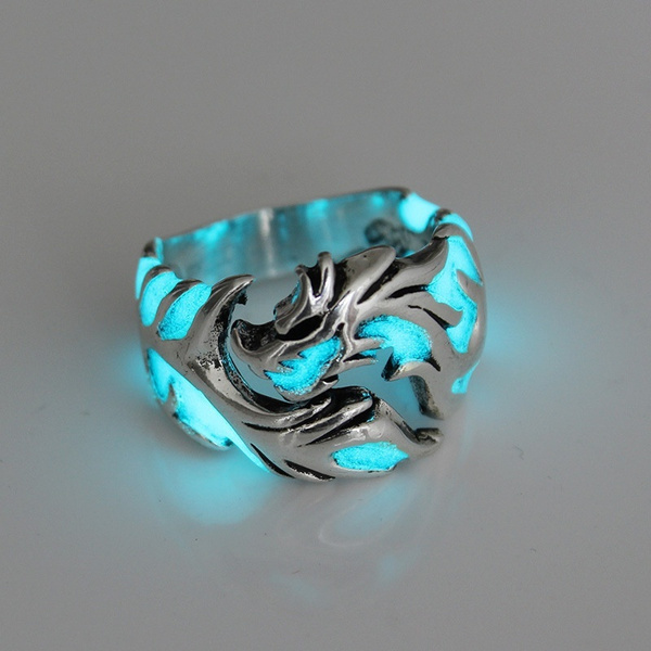 dragonring, retro ring, luminousring, Vintage