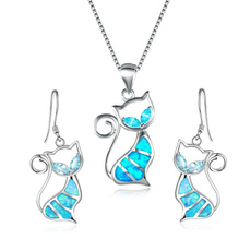 Sterling, bluefireopal, opalearring, Stud Earring