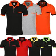 solidcolorpoloshirt, Cotton T Shirt, sportpoloshirt, short sleeves