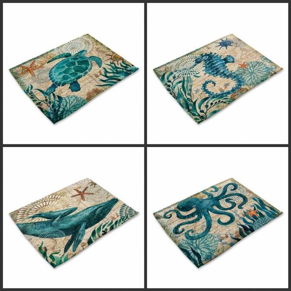 Turtle, tablemat, digitalprinting, Mats