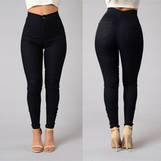 pencil, slim, high waist, Elastic