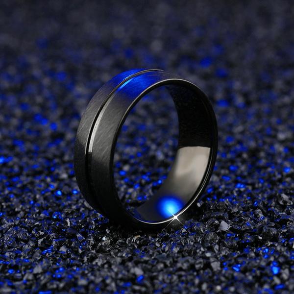 ringsformen, wedding ring, baguehombre, titanium