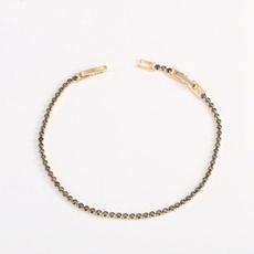 yellow gold, Chain bracelet, arowzircon, Chain