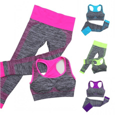 Leggings, Sports Bra, Yoga, Elastic
