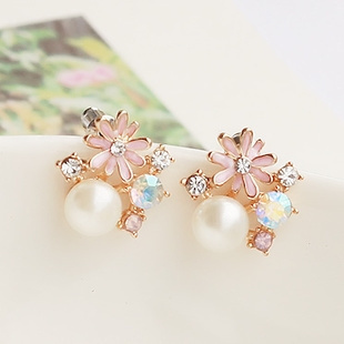 daisyearring, bohemia, Fashion, Pearl Earrings