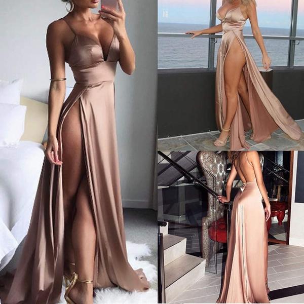 Deep V-Neck, nightclub dress, European And American Fashion, Summer