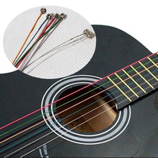 rainbow, guitarstring, Colorful, Acoustic Guitar