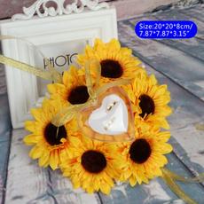 Box, wedding decoration, Jewelry, Sunflowers