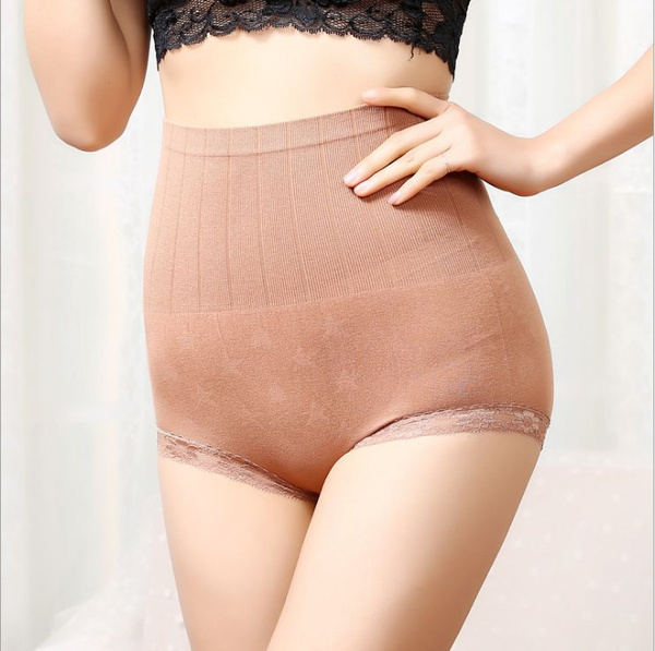 Eco Underwear High Waist Comfy Natural Ribbed Panty Soft Sustainable Green Eco Underwear Eco Friendly Panties Knit Ribbed Texture