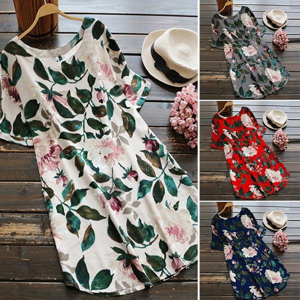 Summer, womens dresses, leaf, short dress