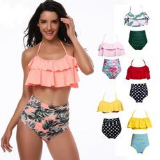 Bikinis Set, high waist, women swimsuit, padded bikini