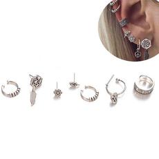 bohemia, earringsset, leaf, Jewelry