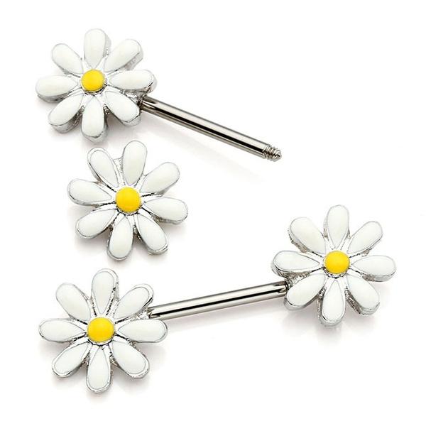 Steel, cute, cutejewelry, Flowers