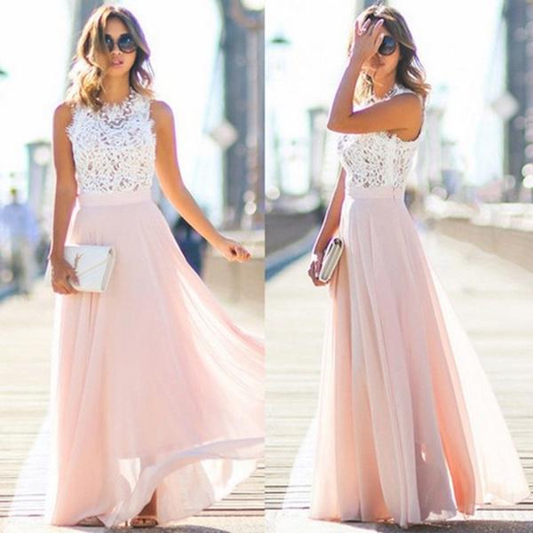 gowns, Stitching, Waist, chiffon
