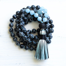 Necklace, Tassels, aquamarine, Yoga
