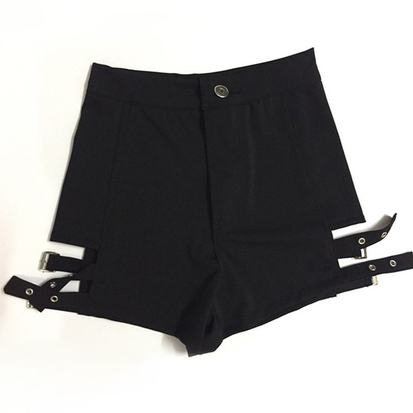 Hot pants short shorts black and white punk rock