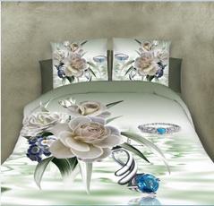 Flowers, bedclothe, bedquiltcoverset, Bedding