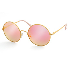 pink, Gray, mirroredcirclesunglasse, Fashion